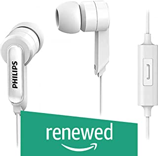 (Renewed) Philips SHE1405WT/94 in-Ear Headphones with Mic (White)