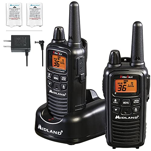 Midland - LXT600VP3, 36 Channel FRS Two-Way Radio - Up to 30 Mile Range Walkie Talkie, 121 Privacy...