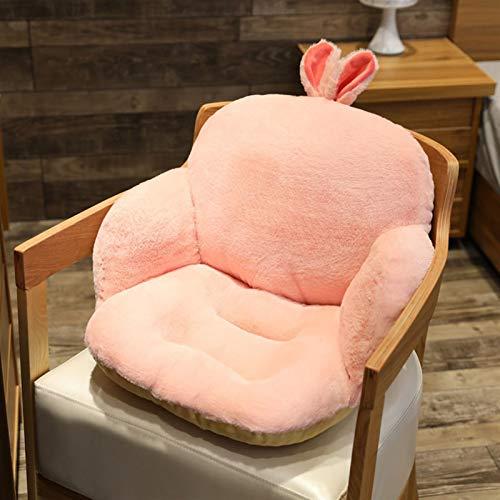 Esteras para sillas Historieta Corta Lujosa sofá Asiento cojín súper Suave Relleno Almohadilla de Asiento casa Oficina Ropa cómoda Silla Cojines (Color : Pink Rabbit, Size : 40x40x60cm)
