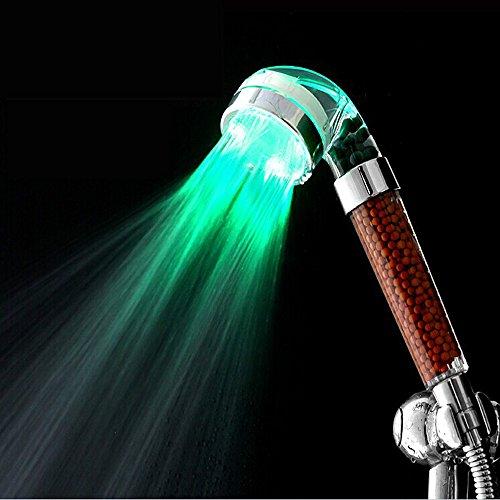 Blulover Douchekop badkamer 3 kleuren LED licht automatisch temperatuursensor negatief filiter bal