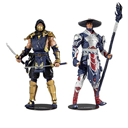 McFarlane Toys Mortal Kombat Scorpion and Raiden 7' Action Figure Multipack