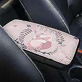 Cubierta impermeable para reposabrazos de coche Corona floral de zorro Universal Auto Center Consola Cubierta Cojín...