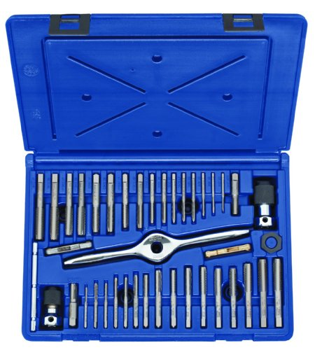 IRWIN Tools 1840234 Performance Threading System Plug Tap Set -Machine Screw/Fractional/Metric, 41-Piece