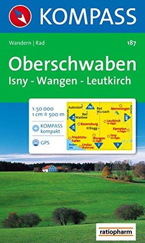 Oberschwaben, Isny, Wangen, Leutkirch: Wander- und Bikekarte. GPS-genau. 1:50.000