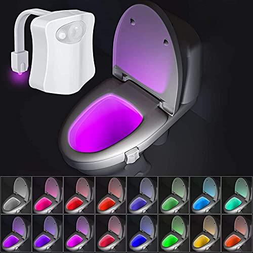 Luz Nocturna de 16 Colores con Sensor de Movimiento, Regalo Único y Divertido, Ideal para Papá, Adolescente, Niños, Gadgets Divertidos para Calcetines. (Requiere 3 Pilas AAA)