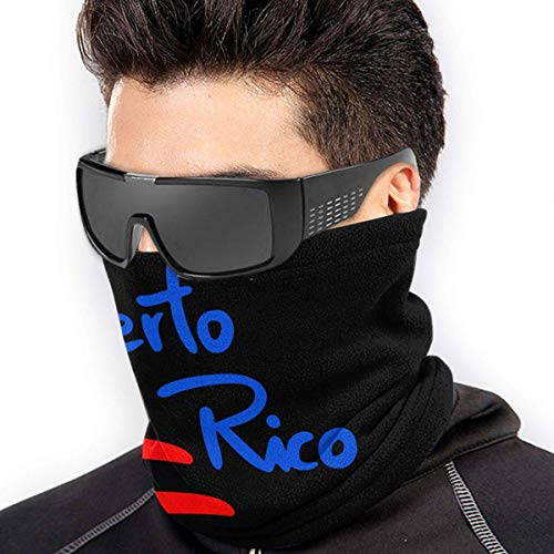 XXWKer Microfibre Chapeaux Tube Masque Visage Tour de Cou Cagoule, Puerto Rico Microfiber Polyester Seamless Windproof Bandana & Face Mask & Neck Warmer Gaiter Shield - for Unisex
