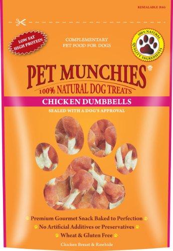 Pet Munchies - Snacks de muslitos de pollo para perros (8 Paquetes) (8 x 100g) (Puede Variar)