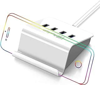 USB コンセント 4ポート 4A 充電スタンド/150CMケーブル/PSE認証 iPhone/iPad/Android 充電器 1年保証 VHBW