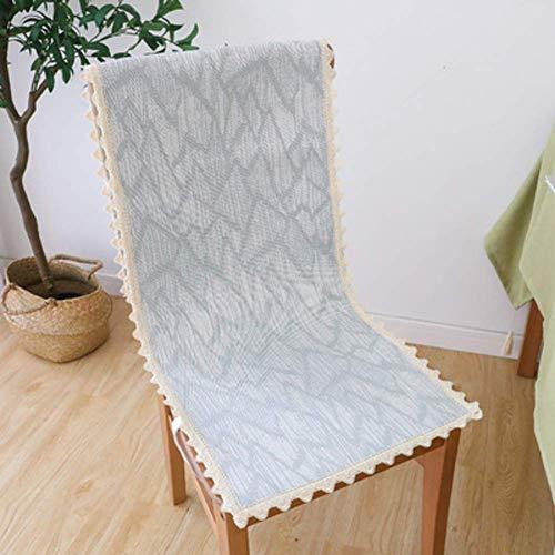 XHNXHN Cojines de silla de verano para decoración del hogar, transpirables y largos, para asiento de oficina siamés, cojín para silla de comedor, 45 x 135 cm, color gris