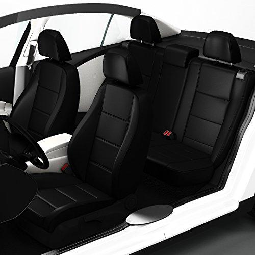 Zacasi - T5 Transporter 9-Sitzer - Sitzbezüge in Lederoptik passgenau nach OEM-Design; Komplettset Sattlerbezüge von SEAT-Styler aus Lederimitat