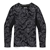 Smartwool Camiseta térmica de Manga Larga para Mujer Merino Sport 250, Mujer, SW019250E451004, Patrón de geode, Negro, Small