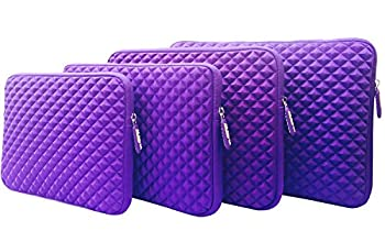 AZ-Cover 13.3-Inch Case Simplicity & Stylish Diamond Foam Shock-Resistant Neoprene Sleeve  Purple  For Dell Inspiron i7359-8404SLV 13.3 Inch 2-in-1 Touchscreen Laptop