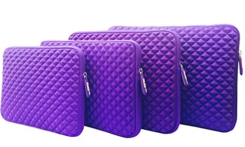 AZ-Cover 13.3-Inch Case Simplicity & Stylish Diamond Foam Shock-Resistant Neoprene Sleeve (Purple) For Dell Inspiron i7348-3571SLV Core i3 13.3' Touch Screen 2-in-1 Laptop