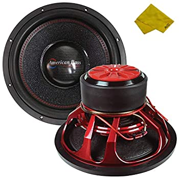 American Bass 15  Competition Car Subwoofer 3000 Watt Maximum Power Bass Surround Speaker Car Audio Stereo Subwoofer - 15 inch Dual 4 Ohm Voice Coil