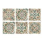 HEALLILY - Adesivo per piastrelle in Marocco, stile classico, rimovibile, impermeabile, pe...