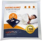 Warmzzz Wool Electric Blanket for Single Bed. Shock-Proof Heated Blanket with 4 Heat