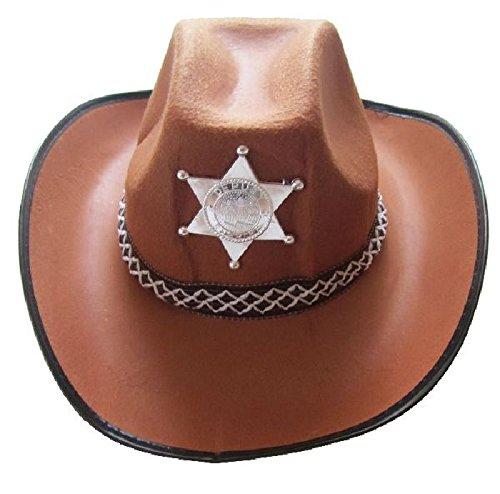 Mondial-Fete - 6 Chapeaux shérif Country Marrons