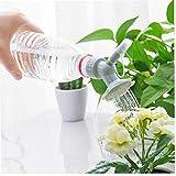 Sanfiyya Tapa de la Botella de riego 2 en 1 plástico rociador Boquilla de Flor Botella regaderas de Ducha Herramienta para el jardín de la Cabeza (en Color Gris) Herramienta para el jardín