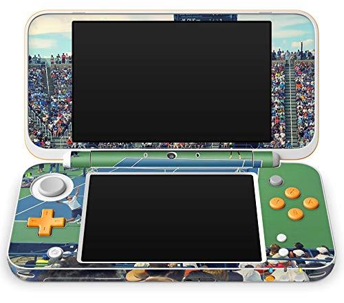 Skins4u Aufkleber Design Schutzfolie Skin kompatibel mit Nintendo NEW 2DS XL Tennis Center Court