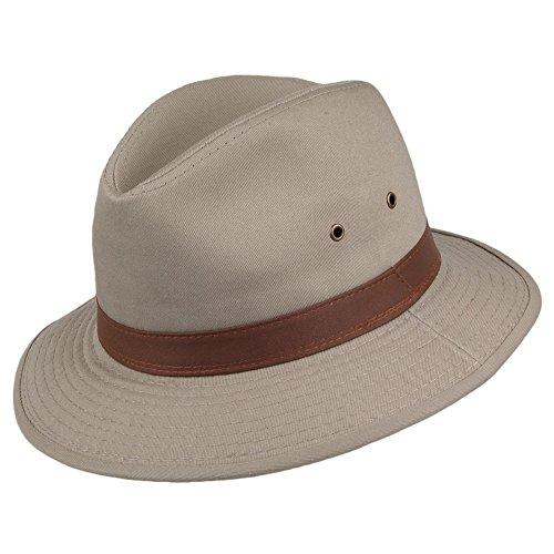Village Hats Chapeau Safari en Coton Hydrofuge Khaki Dorfman-Pacific - Large