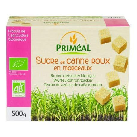 PRIMÉAL Sucre de Canne Roux En Morceaux Bio 500g 1 Unité
