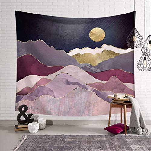 Fineday Mountain Tapestry Tapestry Nature Landscape Tapestry Wall Hanging for Room, Decoration & Hangs 摆件&挂件 for Christmas (G)