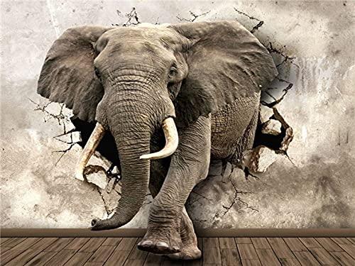 Cuadro de diamante cuadrado completo elefante 5D punto de cruz mosaico bordado animales imágenes de diamantes de imitación Kit de arte de diamantes A11 40x50cm