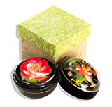 Seifenblume in Mangoholzbox, handgemacht, 8 x 8 x 8 cm, in Geschenkbox