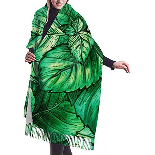 Regan Nehemiah damessjaal wrap mint pepermunt kruiden kasjmier wikkelsjaal print sjaal wrap warme deken