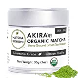 Akira Matcha 30g - Organic Premium Ceremonial Japanese Matcha Green Tea Powder - First Harvest,...