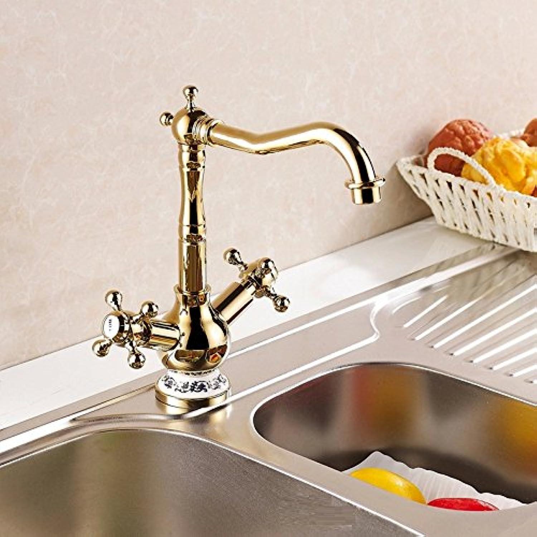 Bijjaladeva Antique Bathroom Sink Vessel Faucet Basin Mixer Tap The gold-faucet kitchen faucet kitchen sink hot and cold Faucet