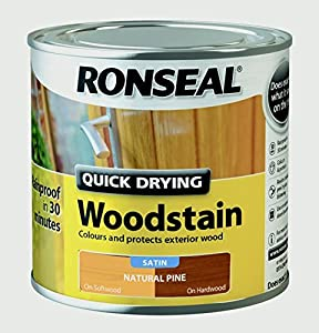 Ronseal Quick Drying Woodstain Satin 250ml Natural Pine