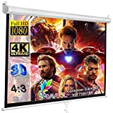 SAVSOL Wall Type/Manual Pull Down Without Locking Projector Screen
