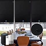 Graywind Motorized Roller Shade Blinds 100% Blackout Shades Cordless Waterproof Remote Control Window Automated Blinds with Valance Custom Size for Smart Home and Office, Black