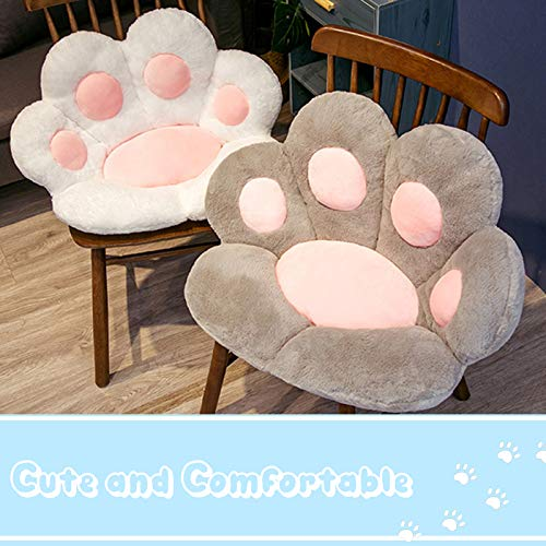 Cute Seat Cushion, Cat Paw Shape Lazy Sofa Office Seat Cushion, Bear's Paw Office Chair Cushion,Office Cozy Warm Seat Pillow,Plush Sofa Cushion Home Decoration White