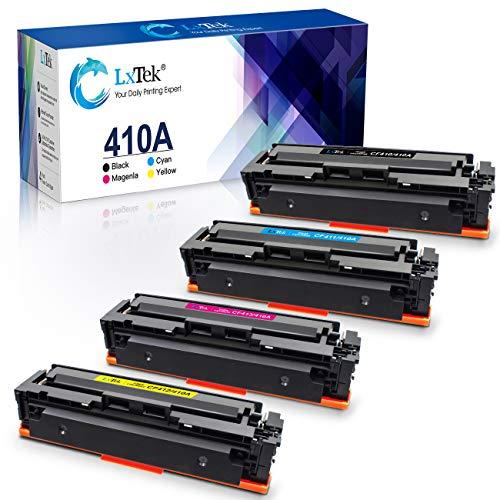 LxTek Vervanging Compatibel voor HP 410A CF410A 410X CF410X Toner voor HP Color Laserjet Pro M452dn M452nw MFP M377dw MFP M477fdn MFP M477fdw MFP M477fnw (1 Zwart 1 Cyaan 1 Magenta, 1 Geel)