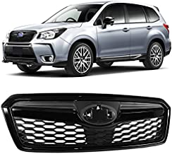 Size : Black Front Grille Metal Car Styling STI Front Grille Sticker Car Tail Decal Emblem Badge for Subaru Legacy Forester Outback for Rally WRX WRC Impreza