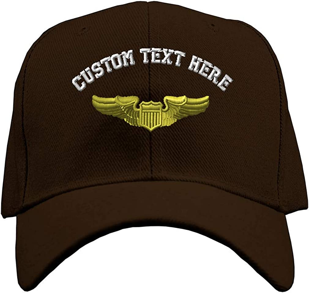 Baseball Cap Pilot Gold Embroidery M Hats Military New Free Denver Mall Shipping Insignias for