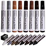Furniture Markers Touch Up, Upgrade Wood Furniture Repair Kit, Premium Wood Scratch Repair Markers and Wax Sticks for Wood Stains Scratches Hardwood Wooden Floors Tables, Set of 17
