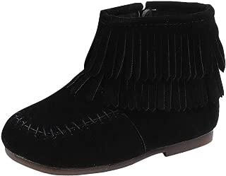 Kids Baby Girls Fringe Tassel Princess Boots Martin Moccasins KnitPatchworkPrewalker Boots Shoes