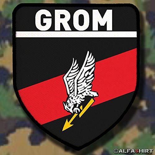 Copytec Patch/Aufnäher - GROM Polnische Spezialeinheit Reaktionsgruppe Für Operative Manöver Donnerschlag Polen Militärisches Wappen #6015