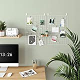 SONGMICS Grid, Photo Display, Metal Mesh Decor, Multifunctional Hanging Picture Wall