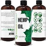 Unrefined Hemp Seed Carrier Oil - Pure,Organic, Natural Hemp Massage Oil Cold Pressed Raw Aromatherapy Virgin Hemp Oil…