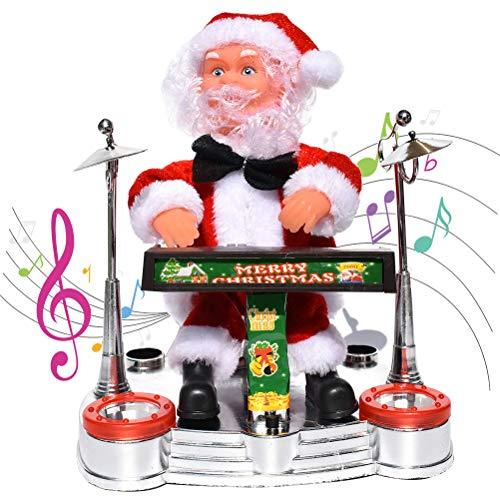 Macabolo Kerstmis elektrische muziek Santa Claus pop, kerstman spelen elektronische piano gitaar blowing saxofoon pop speelgoed kinderen cadeau