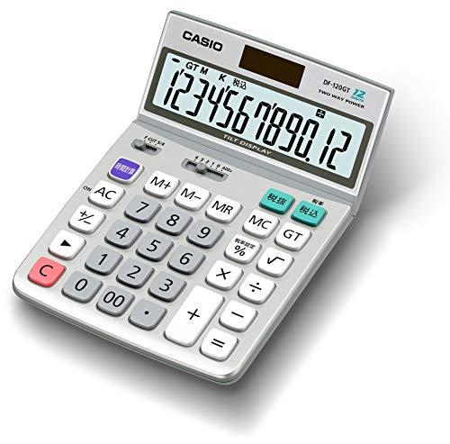 カシオ グリーン購入法適合電卓 12桁 デスクタイプ DF-120GT-N