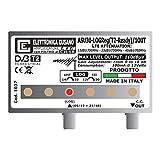 Elettronica Cusano ASU30-LOGReg(T2-Ready)/1OUT - Amplificatore di Segnale Antenna Tv con Filtro 5G/LTE Integrato, Amplificatore DVB-T2 da 30dB, Amplificatore TV 1 Ingresso