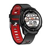 ZZJ Smart Watch, Full Touch Wasserdicht für mehr Sport-Modi Smart Watch Sports Clock-Puls-Monitor Smart Watch für IOS Android Phone,B