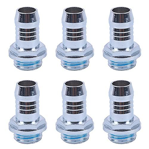 NA 6 piezas G1/4 hilo conector de púas accesorios de manguera para computadora sistema de refrigeración por agua para radiadores de conexión Bombas de agua