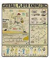 ヴィンテージ金属サイン野球選手知識アート印刷ポスター壁装飾飾りバーカフェクラブ錫サイン12 x 17インチ