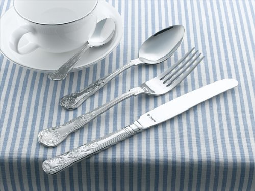 Amefa 621000WF19G24 Vintage Kings 24 Piece 6 Person Cutlery Set - Gift Boxed(Silver)